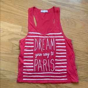 Forever 21 Dream your way to Paris tank top